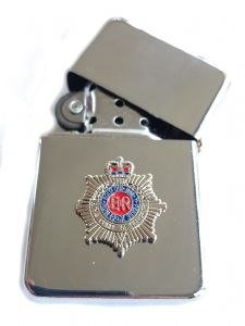 RCT Royal Corps of Transport Chrome Plated Windproof Petrol Lighter in Gift Box
